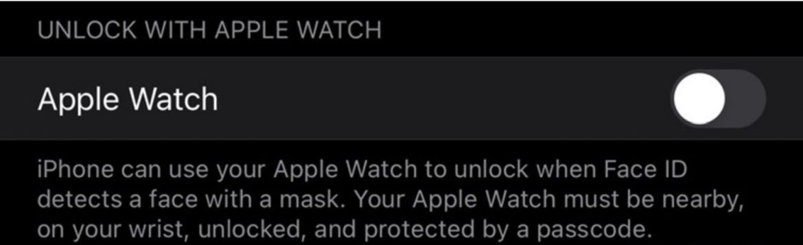 How to unlock your iPhone with Apple Watch in iOS 14.5