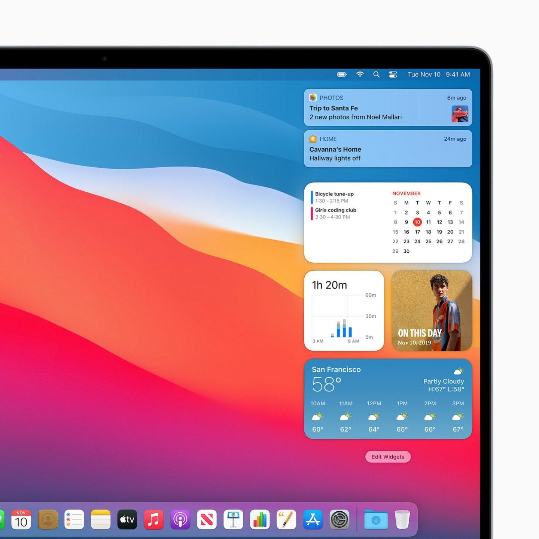 menu bar on mac