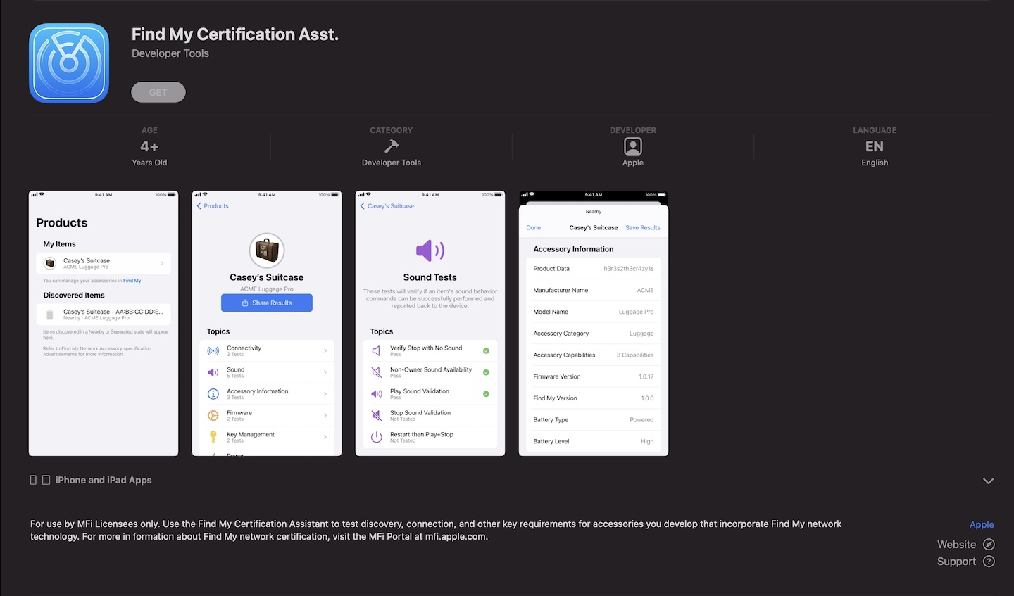 Find My Certification Asst App,Apple Releases New Find My Certification Asst App,Find My application.,Find My app