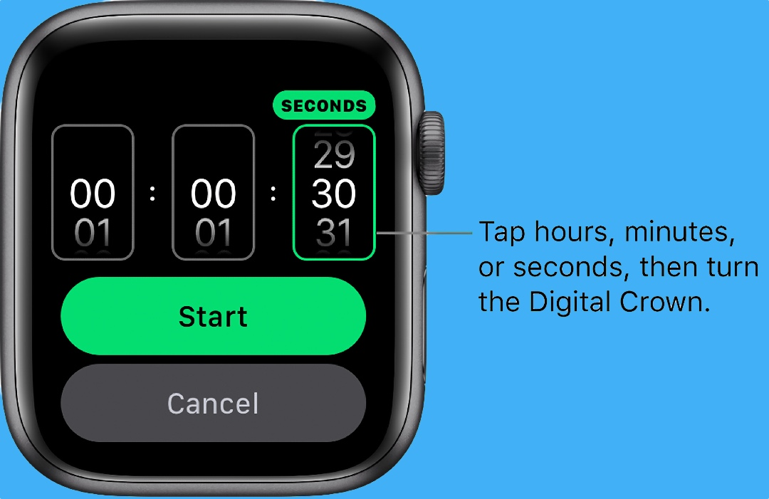 How to Start a Timer on Apple Watch with Timer App