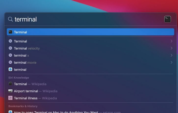 How to Open Terminal On Mac Using Spotlight Search